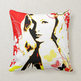 Nostalgic Seduction - Wistful Flutter Throw Pillow