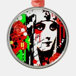 Nostalgic Seduction - Zombie Queen Roses Metal Ornament