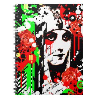 Nostalgic Seduction - Zombie Queen Roses Notebook
