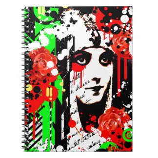Nostalgic Seduction - Zombie Queen Roses Spiral Notebook
