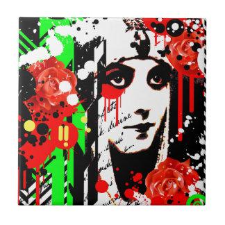 Nostalgic Seduction - Zombie Queen Roses Tile