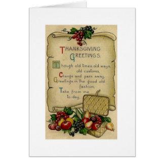 Nostalgic Thanksgiving Card