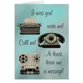 Nostalgic Write me Call Me Card