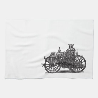 Nostalgically Exquisite Vintage Steam Punk Engine Kitchen Towel