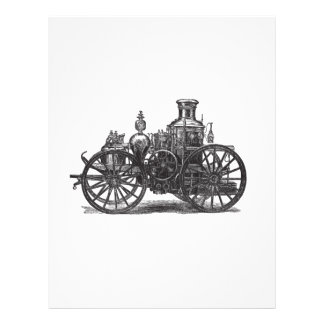 Nostalgically Exquisite Vintage Steam Punk Engine Letterhead
