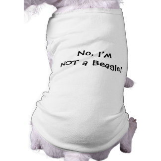 NOT a Beagle! Dog Tee for Basset Hounds
