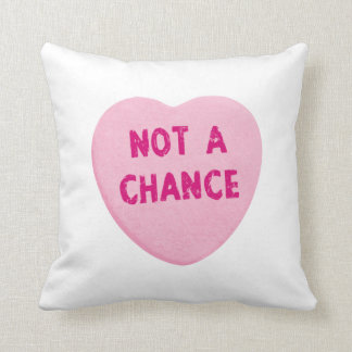 Not A Chance Valentine's Day Heart Throw Pillow