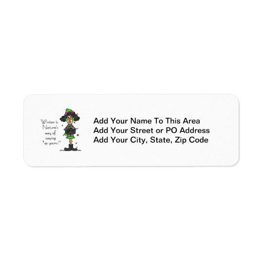 Not a Fan of Winter Return Address Label