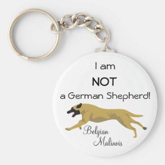NOT a German Shepherd Basic Round Button Keychain