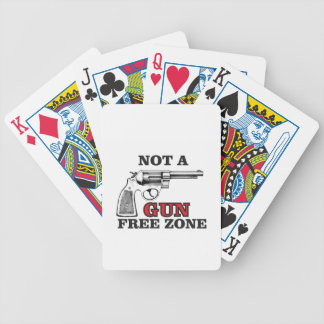 not a gun free zone tag bicycle playing cards