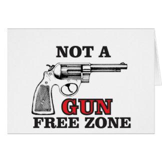 not a gun free zone tag card