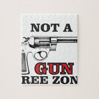 not a gun free zone tag jigsaw puzzle
