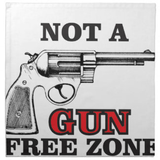 not a gun free zone tag napkin