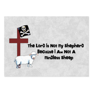Not A Mindless Sheep Large Business Card