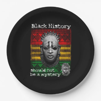 Not A Mystery BHM Party Paper Plates