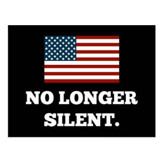 Not a Racist. Not Violent. No Longer Silent. Postcard
