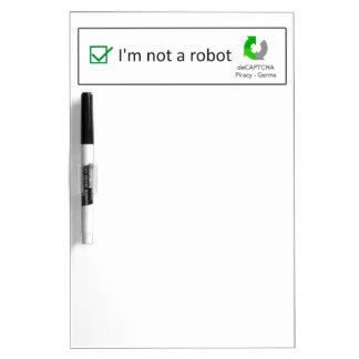 not a robot Dry-Erase whiteboard