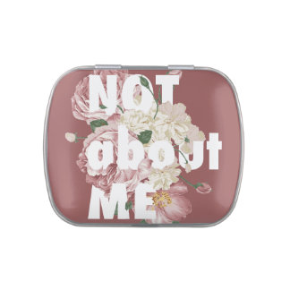 Not About me Square tin (wink Dark) + Jelly Beans