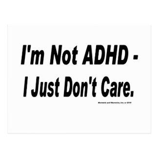 Not ADHD Postcard