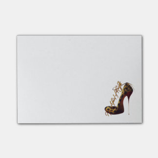 """Not Afraid of Heights"" Tres Chic High Heel Design Post-it® Notes"