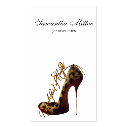 """""""Not Afraid of Heights"""" Tres Chic High Heel Pump Business Card Template"""