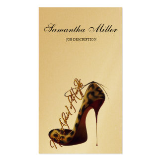 """""""Not Afraid of Heights"""" Tres Chic High Heel Pump Business Card"""