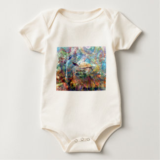 Not All Those Who Wander Inspirational Quote Baby Bodysuit