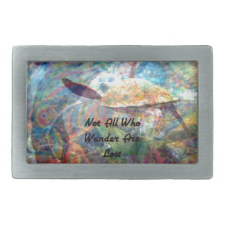 Not All Those Who Wander Inspirational Quote Belt Buckles