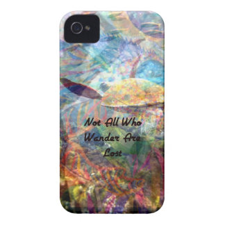 Not All Those Who Wander Inspirational Quote Case-Mate iPhone 4 Cases