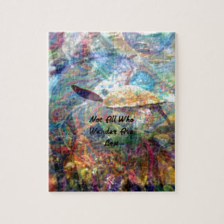 Not All Those Who Wander Inspirational Quote Jigsaw Puzzle