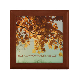 Not all who wander are lost trinket box