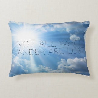 """""""Not All Who Wander.."""" Travel Pillow"""