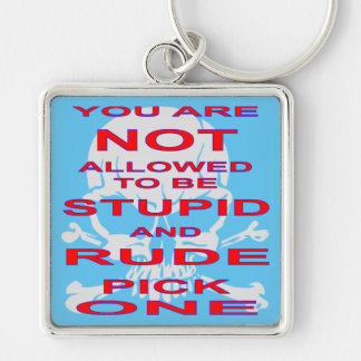 NOT Allowed To Be Stupid AND Rude Pick One Keychain