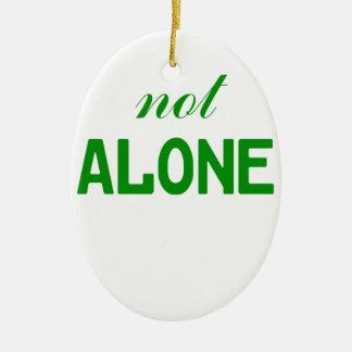 Not Alone Ceramic Oval Ornament