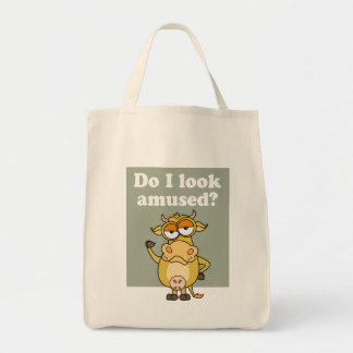 Not Amused Cow Tote Bag