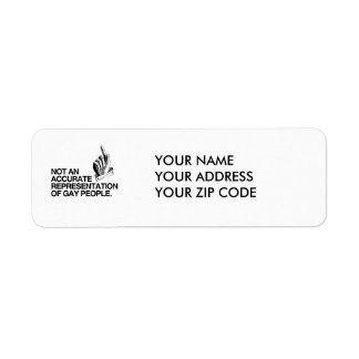 NOT AN ACCURATE REPRESENTATION RETURN ADDRESS LABEL