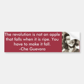 """Not An Apple"" Che Quote Bumper Sticker"