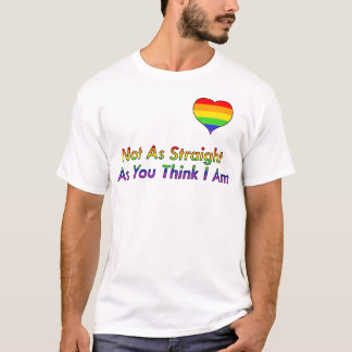 """Not As Straight"" Gay/Queer Shirt"