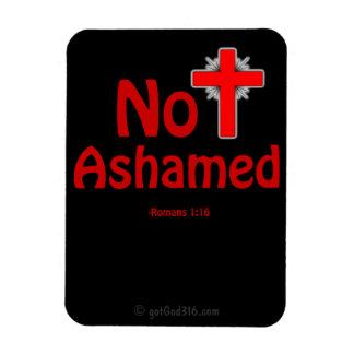 Not Ashamed Black gotGod316.com Jesus Magnet