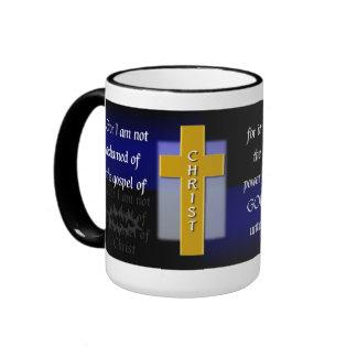 Not Ashamed Christian Bible Verse Men s Coffee Mug