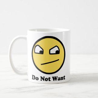 Not Awsome Do Not Want Basic White Mug