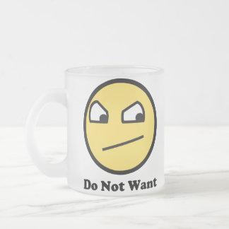 Not Awsome Do Not Want Coffee Mug