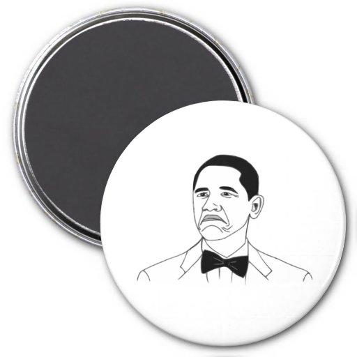 Not Bad Barack Obama Rage Face Meme Magnet