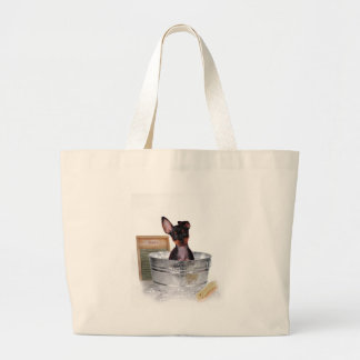 Not bath time again large tote bag