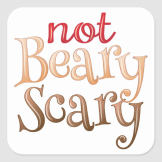 Not Beary Scary Stickers