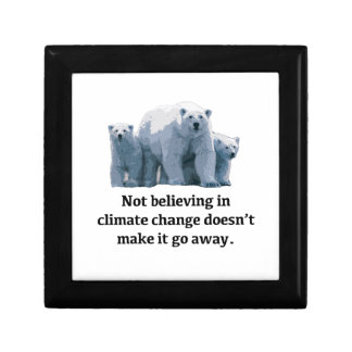Not believing in climate change gift box