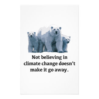 Not believing in climate change stationery