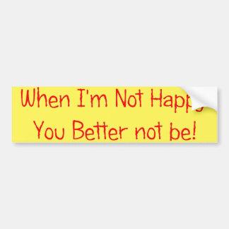 Not! Bumper Sticker