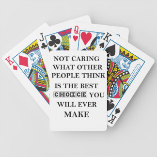 not caring what other people think is the best bicycle playing cards