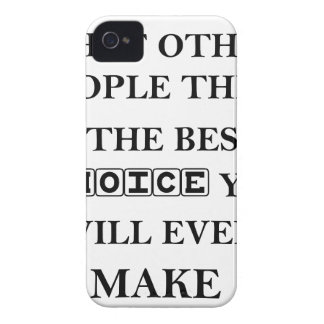 not caring what other people think is the best iPhone 4 Case-Mate case